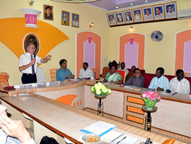 Photo: Visit in the Tiruvannamalai City Hall on 2013-09-25, Source IEEM
