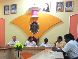 Photo: IEEM Workshop opening in the City Hall of the municipality Tiruvannamalai 2014-09-22