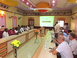 Photo: Capacity Building Workshop in the City Hall of the municipality Tiruvannamalai 2014-09-23